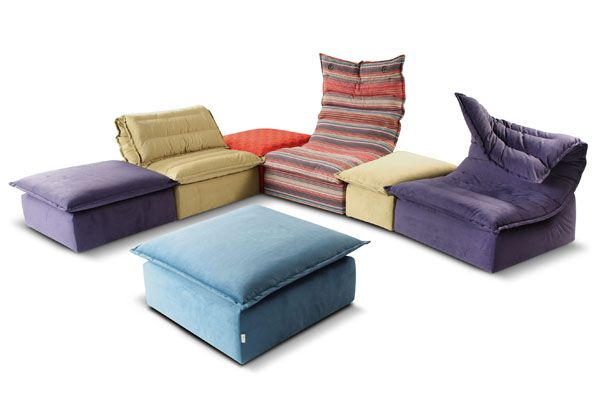 Modular Sofa with Original Design by Calia Italia