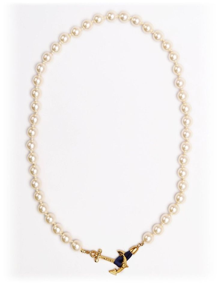 Valerie Pearl Anchor necklace from kjp