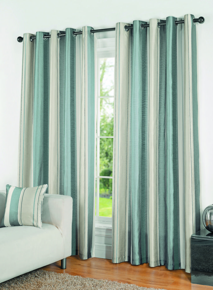 Duck Egg Casa Stripe Curtains Bhs Home Decor Pinterest Striped Curtains Bhs And Living