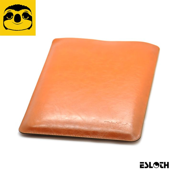 ==> [Free Shipping] Buy Best ESLOTH Crack Light Brown For Lenovo ThinkPad X1 Carbon 14 PU Leather Cases Into Sets of Bladder Bag Ultra Thin Light Laptop Bags Online with LOWEST Price | 32787249016