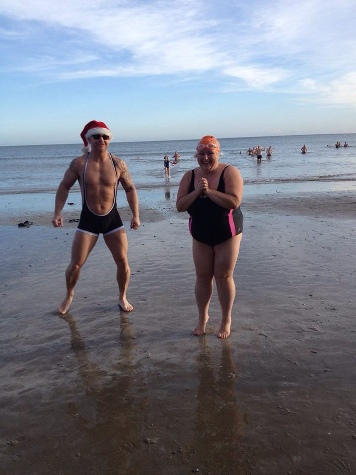 Christmas Day swim 2015...  Oooh thank you Santa ;)