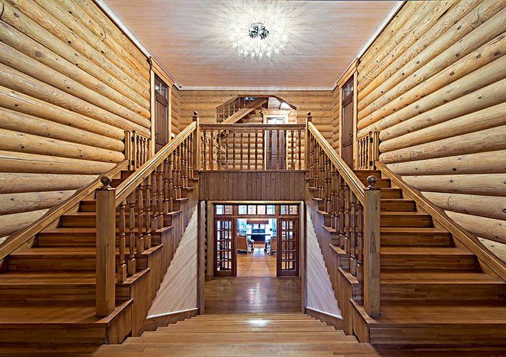 Дом с теремом и «луковичными» окнами на верхнем этаже | Деревянная архитектура | Журнал «Деревянные дома»