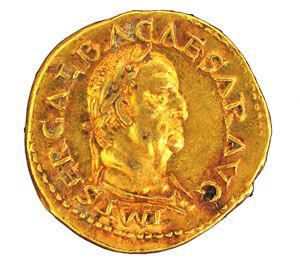 Thorax Hoard; Aureus; obverse Galba/reverse Virtus