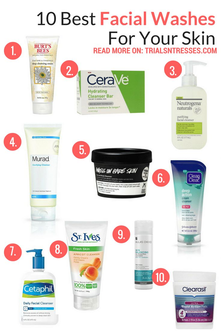 best facial washes for your skin