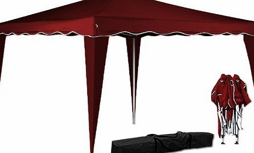 Deuba Pop Up Gazebo 3m x 3m Folding Garden Marquee Tent Awning Canopy Side Panels Red <b>Transport bag included</b> Folding gazebo with solid struts, anchorable feet, and robust structure ensure the pavilions stabil (Barcode EAN = 4250525305739) http://www.comparestoreprices.co.uk/december-2016-week-1-b/deuba-pop-up-gazebo-3m-x-3m-folding-garden-marquee-tent-awning-canopy-side-panels-red.asp
