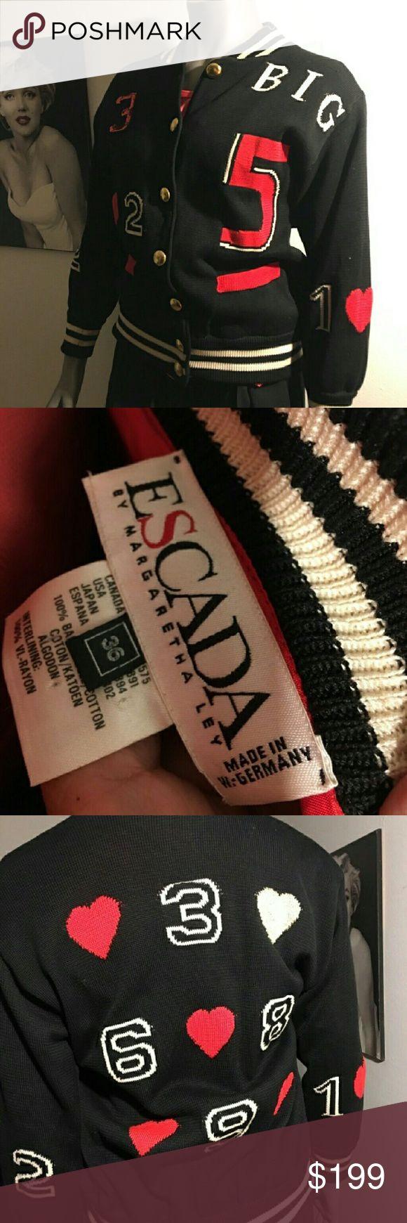 Vintage Escada Margaretha Ley Cotton Sweater Cardi Beautiful vintage cardigan sweater.size 36eu Escada Sweaters Cardigans