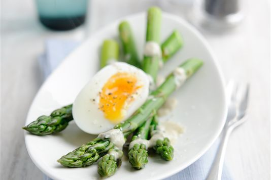 Asparagus with Soft Egg | deliciousness | Pinterest