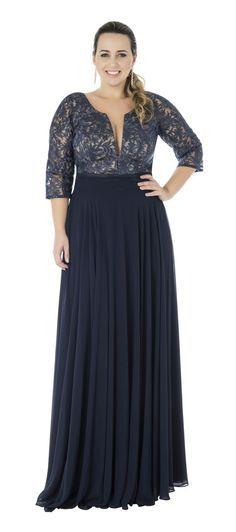 Vestido Dandara » VESTIDOS PLUS SIZE #tallasgrandes #vestido #negro
