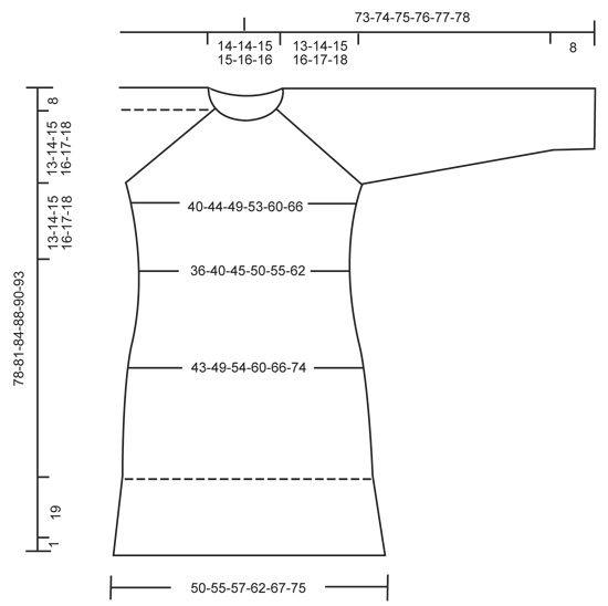 """Strikket DROPS kjole i """"Karisma"""" med raglan, retstrik og rib strikket ovenfra og ned. Str S - XXXL. ~ DROPS Design"""