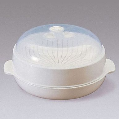 Round Microwave Steamer With Cover – USD $ 16.99