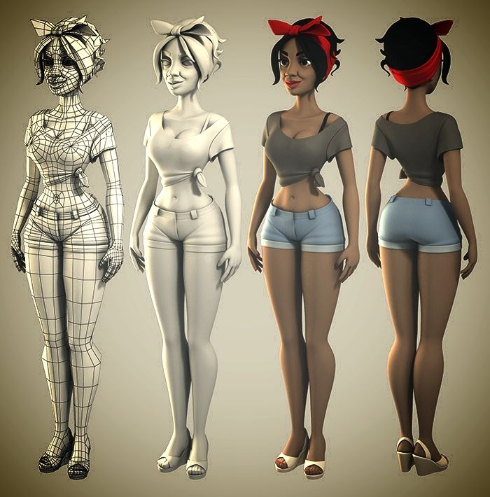 Blender Female Character Modeling Tutorial : Best topology texture images on pinterest wire