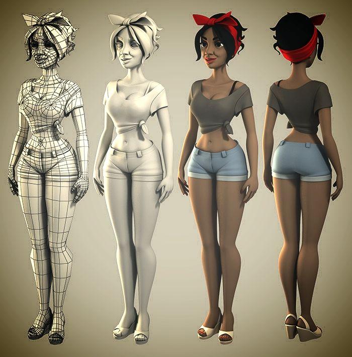 Character Modeling In Blender Lynda : Best d character world images on pinterest