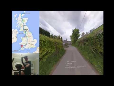 This man is cycling around the UK in virtual reality using Google Street View | The Verge