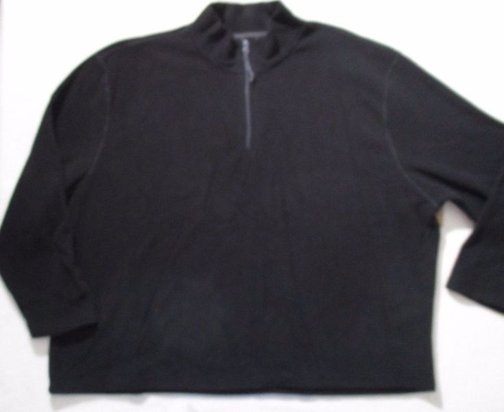 The Foundry Supply Men Sweatshirt 5XL Black 1/2 Zip Polar Fleece Polyester 1700O #TheFoundrySupply #SweatshirtCrew