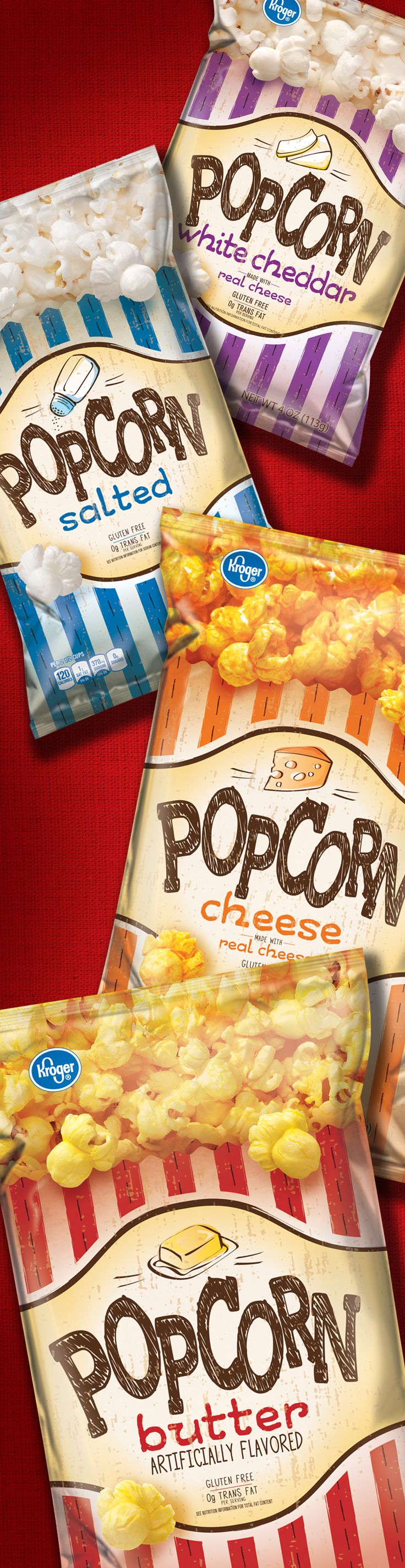 Popcorn - Packaging designed by Design Resource Center http://www.drcchicago.com/
