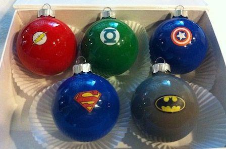 Bolas arbol navidad dibujos super heroes diy navidad - Bolas arbol navidad manualidades ...