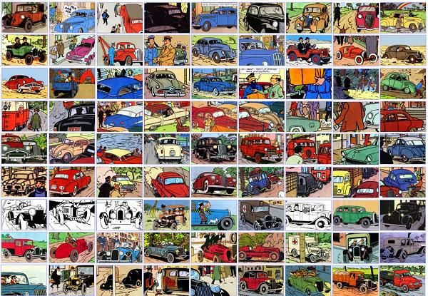 The many cars of The Adventures of Tintin and their real-world counterparts