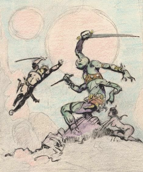 Cap'n's Comics: Cover to A Princess of Mars by Frank Frazetta
