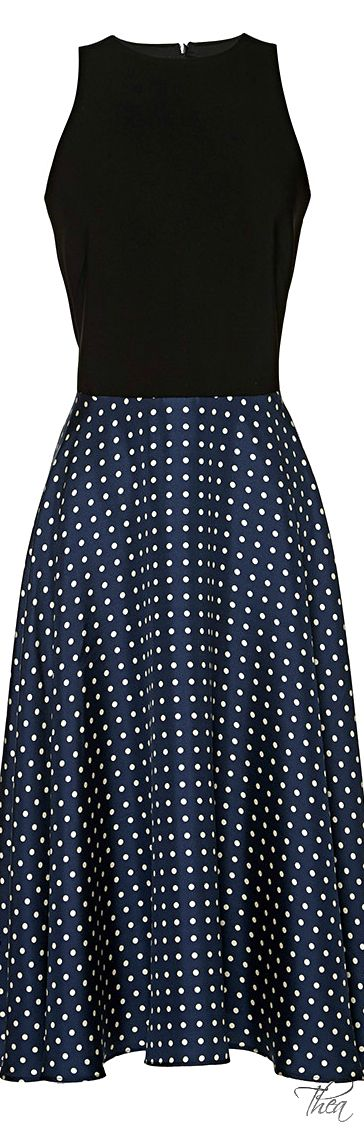 Love everything about this dress.  It reminds me of something Grace Kelly might wear.  Martin Grant ● Resort 2015.  Via @theatoria. #dresses #polkadots