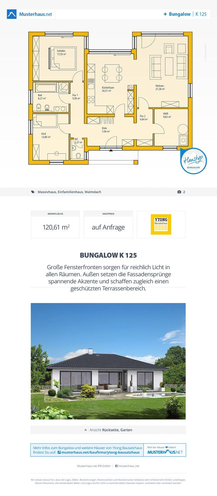 Musterhaus bungalow grundriss  1541 besten Bildern zu House Plans auf Pinterest