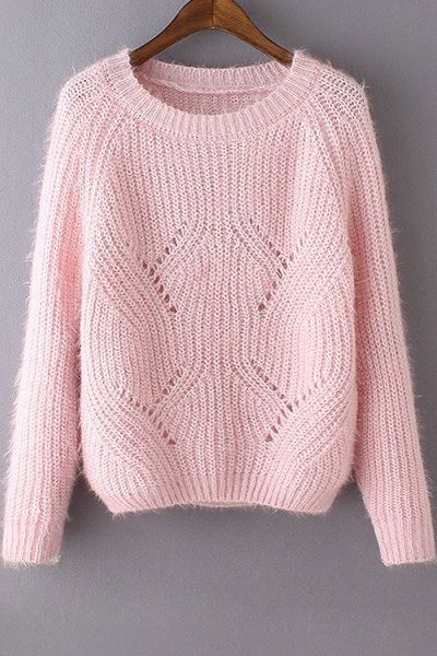 Sweet Round Neck Pure Color Jumper