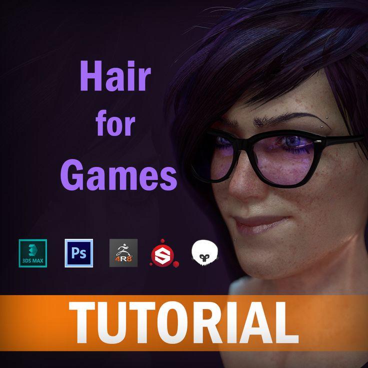 Hair Tutorial for Games, Nirmalendu Paul on ArtStation at https://www.artstation.com/artwork/EnLQv