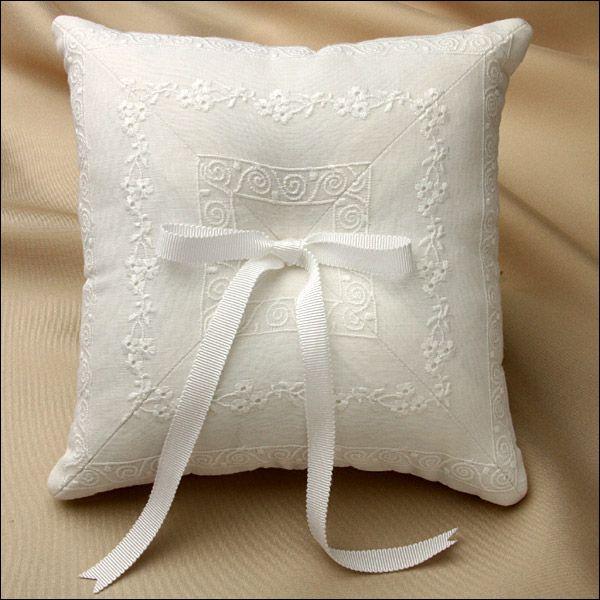 Ring Bearer Pillow - Daisy - White - 054-RP-DSY-W