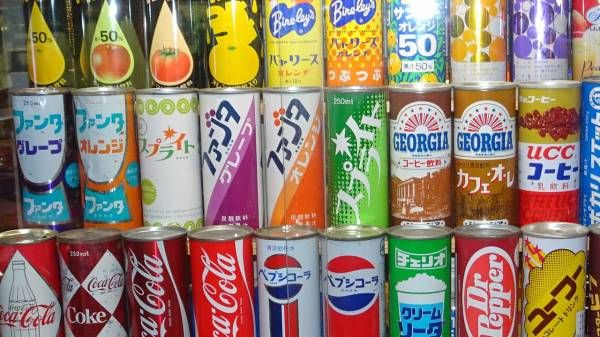 【画像あり】昭和の缶ジュースのデザインすげえなwwwwwwwww : 【2ch】ニュー速クオリティ