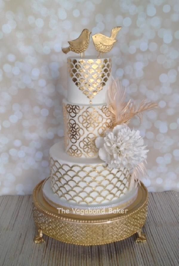 The Vagabond Baker- wedding cake