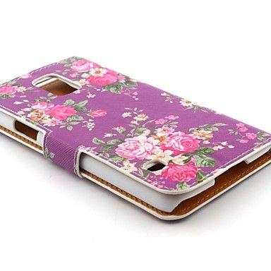 lopussa violetti kukka pu nahka koko kehon kotelo jalustalla Samsung Galaxy S5 9600 – EUR € 7.99