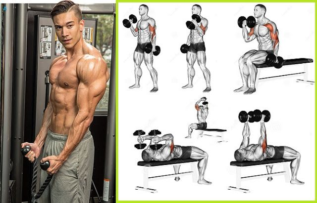 I am going to show you how to get bigger arms in a month with dumbbells. One of the most effectiv...