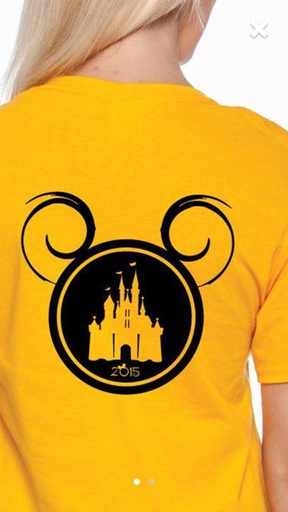 Disney Mickey head castle t shirt