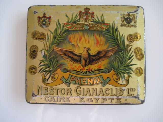 Excited to share the latest addition to my #etsy shop: Phenix Egyptian cigarette tin (50/empty) by Nestor Gianaclis Ltd c.1910 http://etsy.me/2o5eFvR #vintage #collectables #cigarettetins #tobaccocollectibles