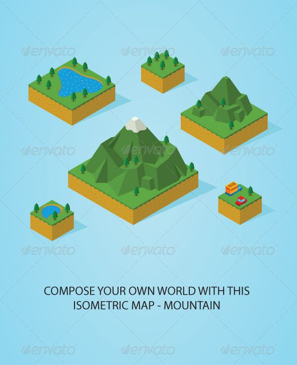Pre Assembly Isometric Map-Mountain  #GraphicRiver         pre assembly isometric map-mountain. Best for game assets. Available in vector eps 8 file     Created: 28August13 GraphicsFilesIncluded: JPGImage #VectorEPS Layered: Yes MinimumAdobeCSVersion: CS Tags: assets #canary #cars #conservation #cube #environmental #game #green #illustration #isometric #landscape #leaf #map #mini #miniature #modelkit #mountain #partial #pattern #pieces #pool #puzzle #sand #set #tiledfloor #transportation…