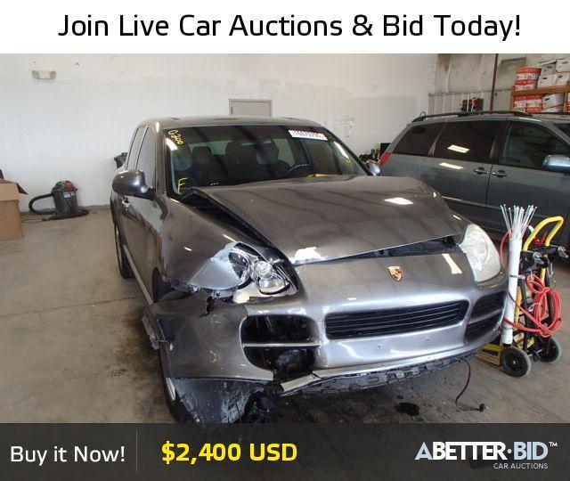 Salvage  2004 PORSCHE CAYENNE for Sale - WP1AA29P64LA22536 - https://abetter.bid/en/vehicle-finder-auto-auctions/salvage-cars-for-sale/porsche/cayenne/2004-porsche-cayenne-lot-16079795-copart-memphis-tn-vin-WP1AA29P64LA22536