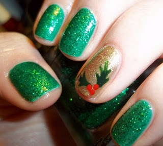 Cute nail art for Christmas