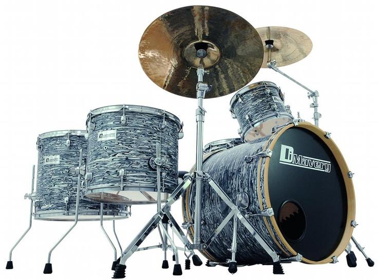 Dimavery DS-555 Oyster - Nya trummor hos Trumslagaren. Komplett trumset med stativ.