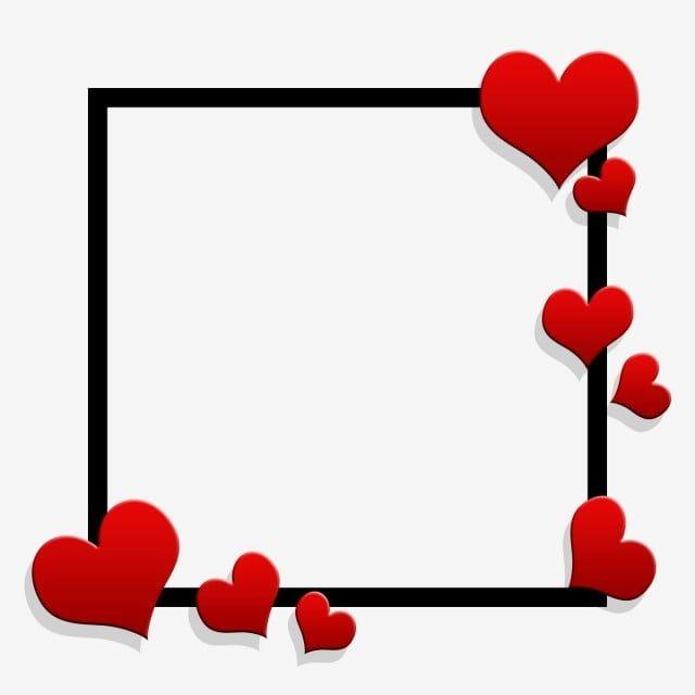 Valentine Hearts Square Decoracion Cartas De Amor Imagenes De Marcos Marcos Para Cartas