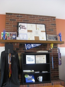 "Graduation ""Shrine"" for College Grad Party"