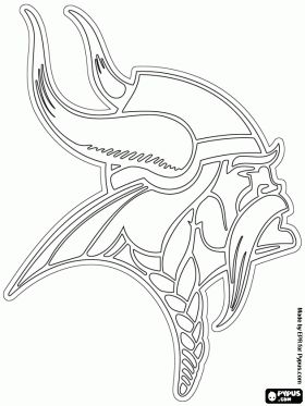 free minnesota vikings logo american football team in the nfc north division minneapolis minnesota coloring and printable page