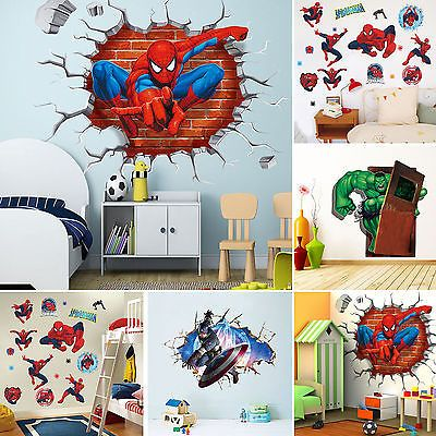 Super Hero Avengers Wall Decal Sticker Mural Fun Children Bedroom Decor Art DIY in Home, Furniture & DIY, Home Decor, Wall Decals & Stickers | eBay