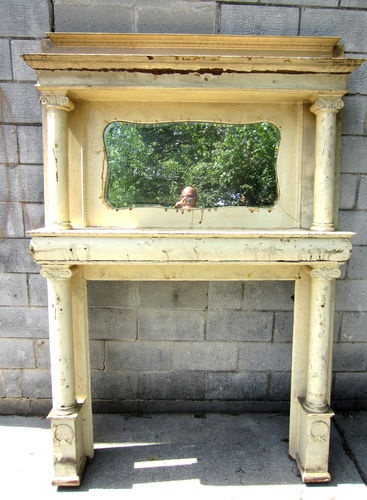 Ha! This is mine. We bought it more than a year ago. Now beautifully restored and waiting to be installed. ~ BIG BEEFY ANTIQUE OAK FIREPLACE MANTEL ~ ARCHITECTURAL SALVAGE ~ | eBay
