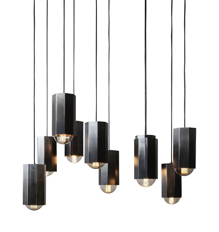 Hex Light Contemporary, Industrial, Traditional, MidCentury Modern, Glass, Metal, Pendant by John Beck Paper Steel