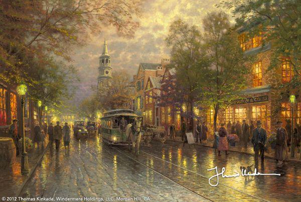 Evening on the Avenue by Thomas Kinkade