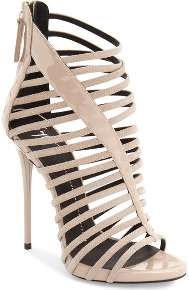 Giuseppe Zanotti 'Coline' Cage Sandal (Women) available at #Nordstrom