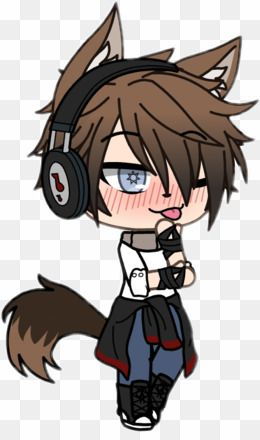 Gacha Life Boys Wolf PNG Wolf Clipart