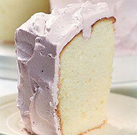 Lemon Chiffon Cake with Ras
