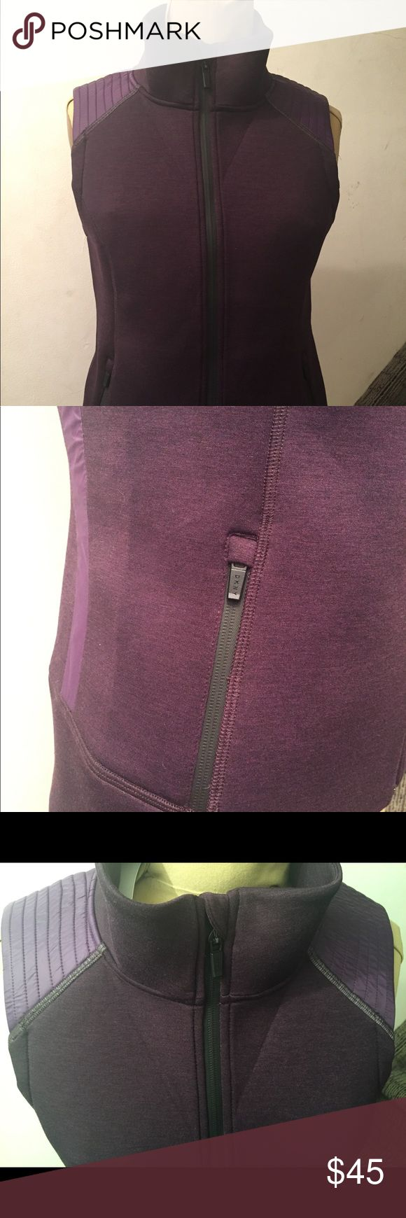 Purple Vest Premium down purple vest.   Made of scuba material. Perfect for the fall. Dkny Jackets & Coats Vests