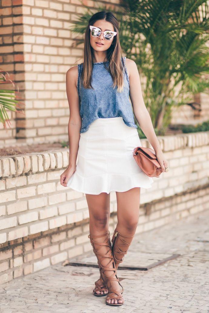Sandália Gladiadora …   #Looks Perfect's in 2019   Pinterest   Jeans, Fashion and Womens fashion