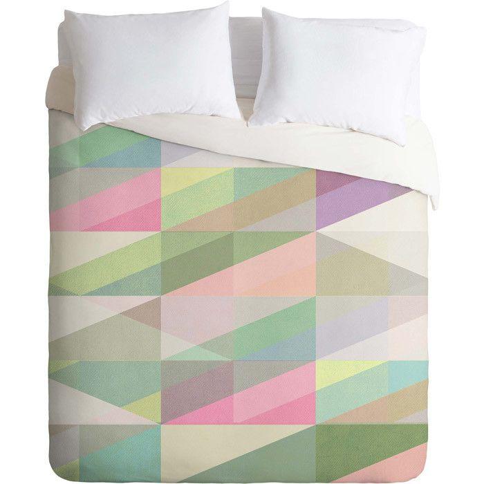 Duvet cover in pastel - love the colors!  Joss & Main